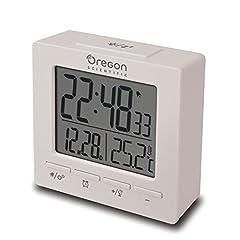 Idea Regalo - Oregon Scientific RM511 Orologio radiocontrollato con doppio allarme sveglia (Bianco)