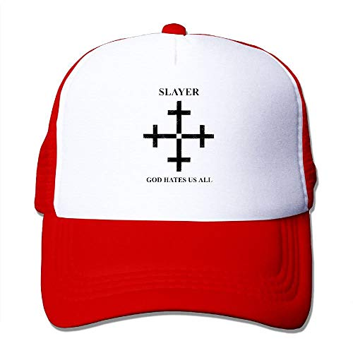 Slayer God Hates Us All Disciple Print Adjustable Trucker Hat Cap Adult Unisex Baseball Mesh Cap Multicolor36 ()