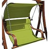 ASS Design Sitzbank für Hollywoodschaukel Seat MERU Grün aus Holz Lärche inkl. Dach (Ohne Gestell!!) von