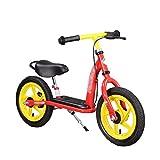Laufrad Kinder-Balance-Fahrrad, Leichter Kohlenstoffstahl-Rahmen-Rahmen, Kind, das Fahrrad 2-6-Jährige lernt, rot