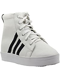 Shuberry Latest Footwear Collection, Comfortable & Fashionable Fabric, Black Colour Faux Leather Sneakers for Women's & Girl's (SB-260)