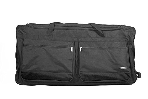 Alle Taschen 101,6cm Große Rädern Reisetasche Koffer Gepäck Travel Duffle Bag 240litres schwarz 101,6 cm (40 zoll) schwarz