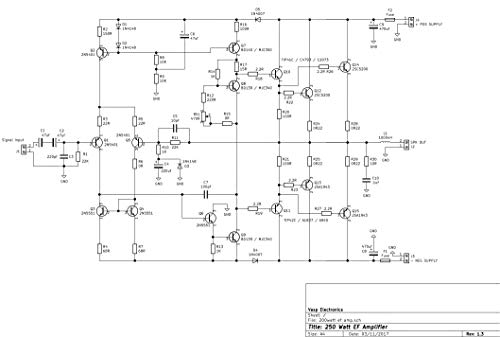 Vasp Electronics DIY - 250 Watt Amplifier Using 2SC5200 2SA1943 Transistors  Project - PCB Only - Pack of 2