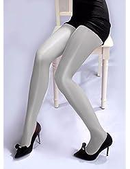 PinWei_ Danza leotardos medias cintura brillante brillante medias piernas,Blanco