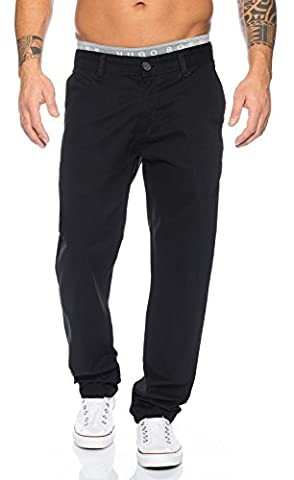 Rock Creek Herren Designer Chino Stoff Hose Chinohose Regular Fit Herrenhose W29-W40 RC-2083 [RC-2083 - Schwarz - W33
