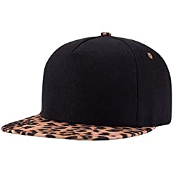 Hombres Ajustable Estampado De Leopardo Moda Hip Hop Gorras Moda Fácil Transpirable Gorra De Béisbol Sombreros (Color : W303, Size : One Size)