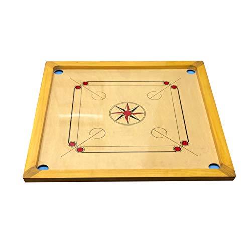 GICO Carrom Board Pro Standard 83 cm - Spielbrett Komplettset mit Steinen & Gleitpulver