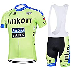 ZCFXJiTuanYZ Men Jersey Suit for Outdoor Sports Sportswear for Cycling Jersey Short Sleeve + Breathable Shorts Quick Dry Spring / Summer / Autumn, YJ17
