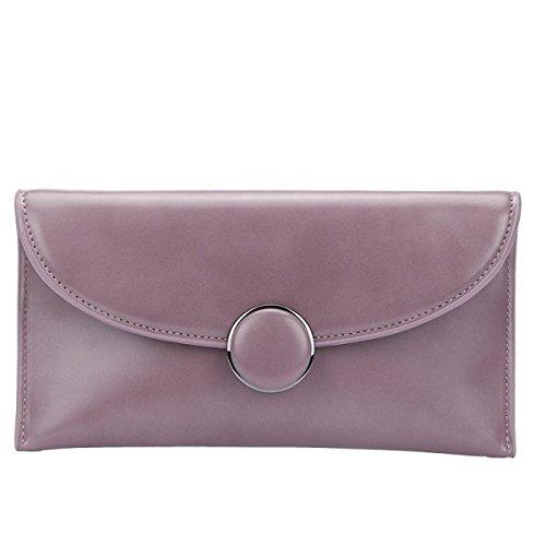 Il Nuovo Sacchetto Della Busta Moda Fibbia Rotonda Frizione Catena Spalla Diagonale Personalità Borse Purple