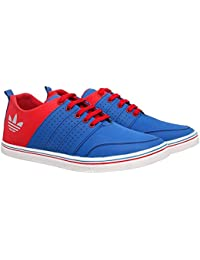 Dev Shoes Stylish Blue Red Color Synthetic Leather Casual Shoe.(Stylish Casual Shoe | Synthetic Leather Shoe |...