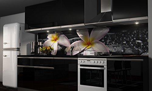 k chenr ckwand folie selbstklebend orchidee klebefolie dekofolie spritzschutz k che. Black Bedroom Furniture Sets. Home Design Ideas