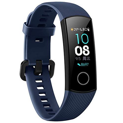 Huawei Honor Band 4 Fitness Armband Smart Armband Wasserdicht IP67 Disk Touch Screen Uhr Blutdruck Herzfrequenz Sauerstoff Monitor Bewegung Bluetooth Armband Edelstahlband (Blue) (Uhr Gesundheit-band)