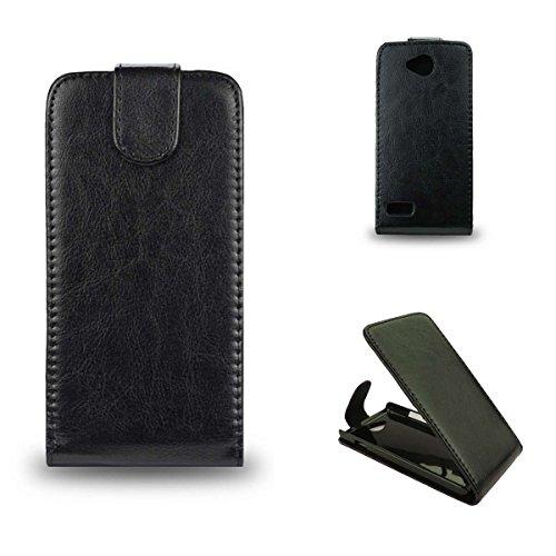 caseroxx Handyhülle mit Flip-Cover für ZTE KIS 3 Max, Schutzhülle für das Smartphone Flipcase (Handytasche klappbar in schwarz)