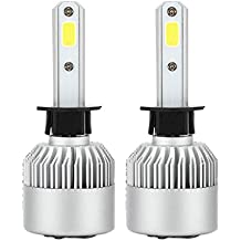 Gazechimp 2 piezas LED Foco Delantero Bombillas S2 H1 6000K kit de Conversión 72W 7200lm para Coche