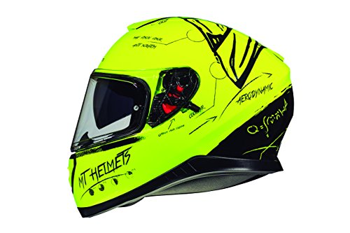 CASCO MT THUNDER 3 SV ON BOARD AMARILLO FLUOR S