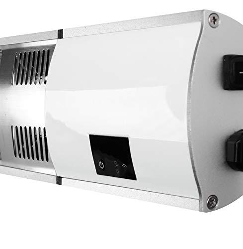 Firefly 3.000 Watt Infrarot-Heizstrahler (Goldröhre), Terrassenheizung Wandmontage, 2 Leistungsstufen, inkl. Fernbedienung - 7