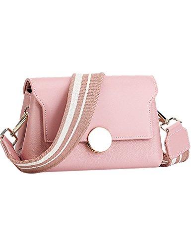 Menschwear Damen Echtes Leder Umhängetasche Handtasche Rot Pink