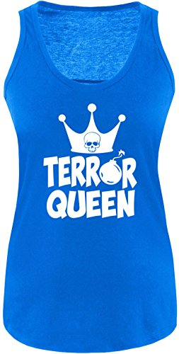 EZYshirt® Terror Queen Damen Tanktop Royal/Weiss