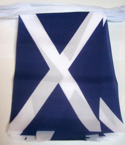 Scottish Flag (Riesige Wimpelkette. ca. 60FT 18M (45,7x 30,5cm) 30Flagge Schottland St Andrews Scottish Wimpelkette)