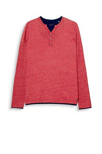 ESPRIT Herren Langarmshirt Rot (Garnet Red 620)