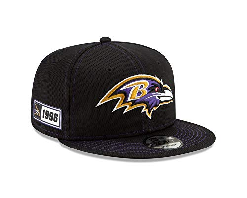 New Era NFL Baltimore Ravens Authentic 2019 Sideline 9FIFTY Snapback Road Game Cap - New Era Ravens Cap