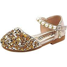 f2b304626d3931 FRAUIT Scarpe da Ragazza Glitter Glitter Tacco Basso Sandali Bambina  Sandalo Bambino Eleganti Scarpe Bimba Estive