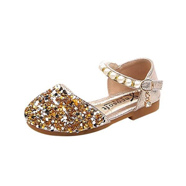 VECDY Zapatillas Bebe Niño, Sandalias Bebe Niñas Perlas, Lentejuelas Bling,Zapatos Princesa Sandalias para Bebé De… 2