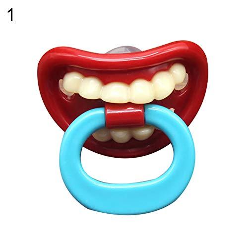 xMxDESiZ Lustige Lippenzähne Kleinkind Baby Silikon Dummy Schnuller Kinderkrankheiten Schlaf Schnuller 1# (1 Enfamil)
