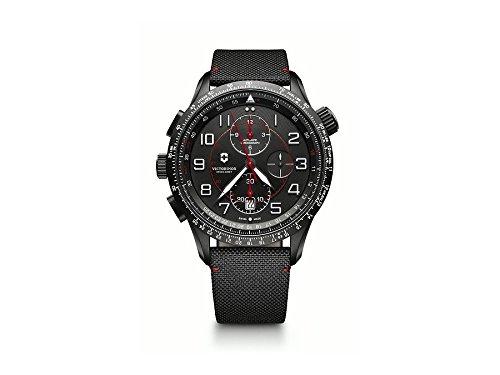 VICTORINOX SWISS ARMY Schweizer Automatikchronograph Airboss Mach 9 Black Edition 241716