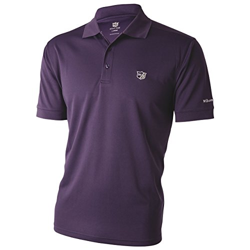 Wilson Staff Mens Authentic Polo-Shirt Grape lila Grösse XL - Authentic Polo-shirts