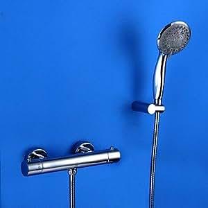Zeitgenössischen Chrom zwei, ¨ ¦ es Badewannenarmatur Thermostat
