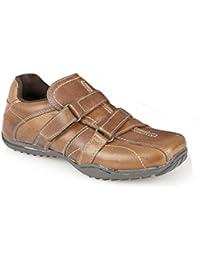 Private Brand - Zapatillas de Piel para niño Marrón marrón