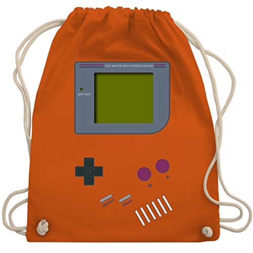 Nerds & Geeks - Gameboy - Unisize - Orange - WM110 - Turnbeutel & Gym - Kostüm Spieler Hat