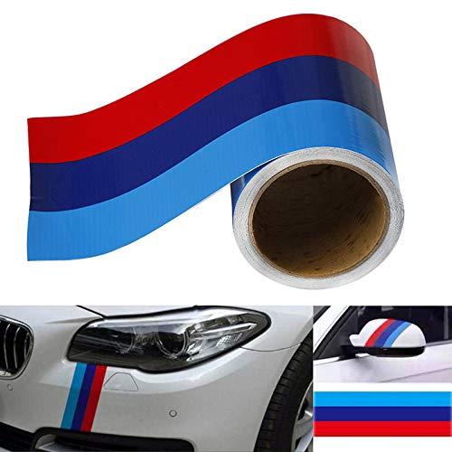 AMHDEE 300CM Streifen Aufkleber Car Vinyl Aufkleber Auto Aufkleber Auto Dekoration M-Farbiger Streifen Aufkleber für BMW m3 m4 m5 m6 3 5 6 7 Serie