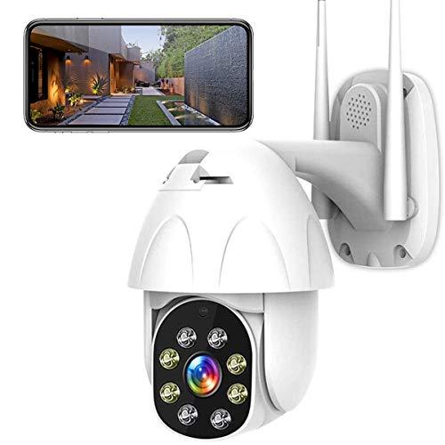 PTZ IP Kamera Aussen WLAN IP Dome Überwachungskamera 1080P Pan 355°/ Tilt 90°, Zwei Wege Audio, APP Alarm, IR Nachtsicht, Bewegungserkennung, IP66 Wasserdicht, Fernzugriff