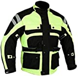 Bikers Gear The Infinity Hi Visibility Waterproof Motorcycle Jacket High Vis CE Protection, Hi-Viz, 2XL