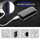 DIGOO Feuerzeug, USB Elektro-Feuerzeug Dual Lichtbogen mit Batterieanzeige, Aufladbar Winddicht Lange Lebensdauer mit USB-Kabel, für Küche Grill Kerzen Zigaretten - 3