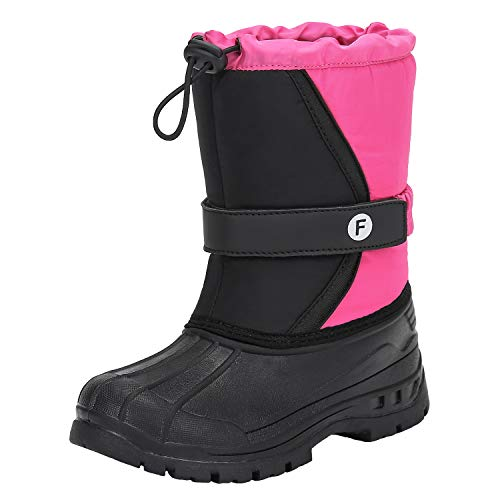 Mishansha Snow Boots Waterproof Warm Fur Lined Booties Unisex Kids