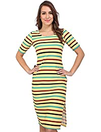 Bella Figura Couture Short- Sleeve Waffle Dress For Women