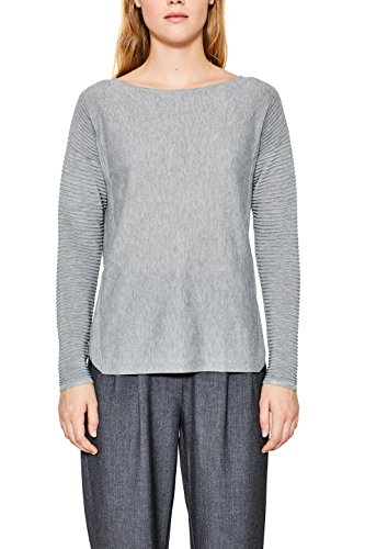 ESPRIT Damen Pullover 998EE1I801, Grau (Light Grey 3 042), Medium