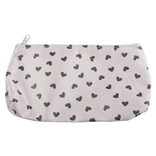 TOOGOO(R) Sweet Hearts Sac Cosmetique Trousse a maquillage Sac a main - rose