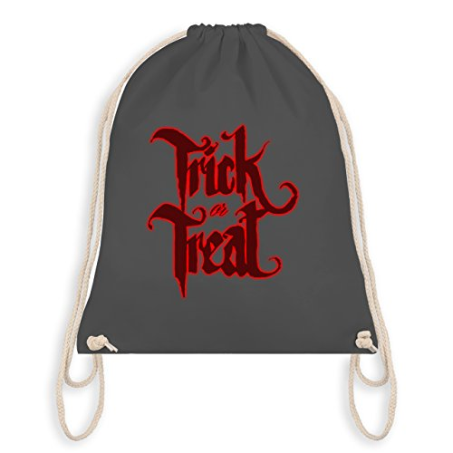 Halloween - Trick or Treat Halloween Typo - Turnbeutel I Gym Bag Dunkelgrau