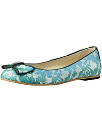 Alessandro dell'Acqua Rouge Women's LED and Fluorescent Naplack Leather Ballet Flats