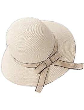Sombrero De Paja Muchachas De Las Señoras Verano De La Playa De Protección Solar Sombrero Plegable Cap Playa Sol...