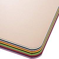 Office Marshal Bodenschutzmatte in Trendfarben | 75 x 120 cm für Hartböden | ohne schädliche Weichmacher und PVC | Größe und Viele Farben zur Auswahl (Beige)