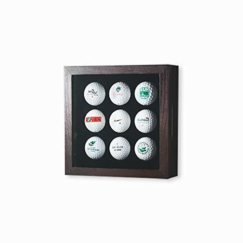 Golfball-Vitrine Braun für 9 Golfbälle -