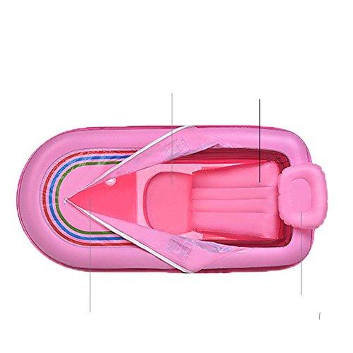 LIVY Super lange verdickte in Erwachsenen aufblasbare Badewanne Badewanne Badewanne Kunststoff-Eimer Duschbad Barrel Faltung , Pink