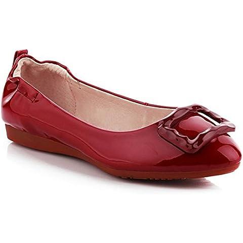 primavera/Piatto scarpe da donna/Rosso morbido paletta madre materna alla fine della scarpa/Scarpe di Doug