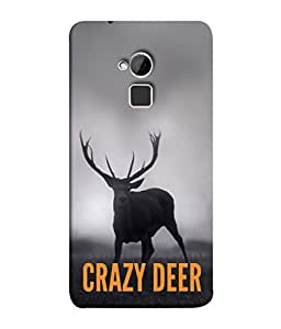 PrintVisa Designer Back Case Cover for HTC One Max :: HTC One Max Dual SIM (Crazy deer express my anger bold)