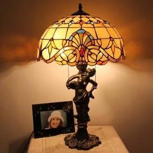 Tiffany lampe european baroque de luxe r tro for Lampe de chevet anglais